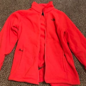 Hot Coral NorthFace Jacket